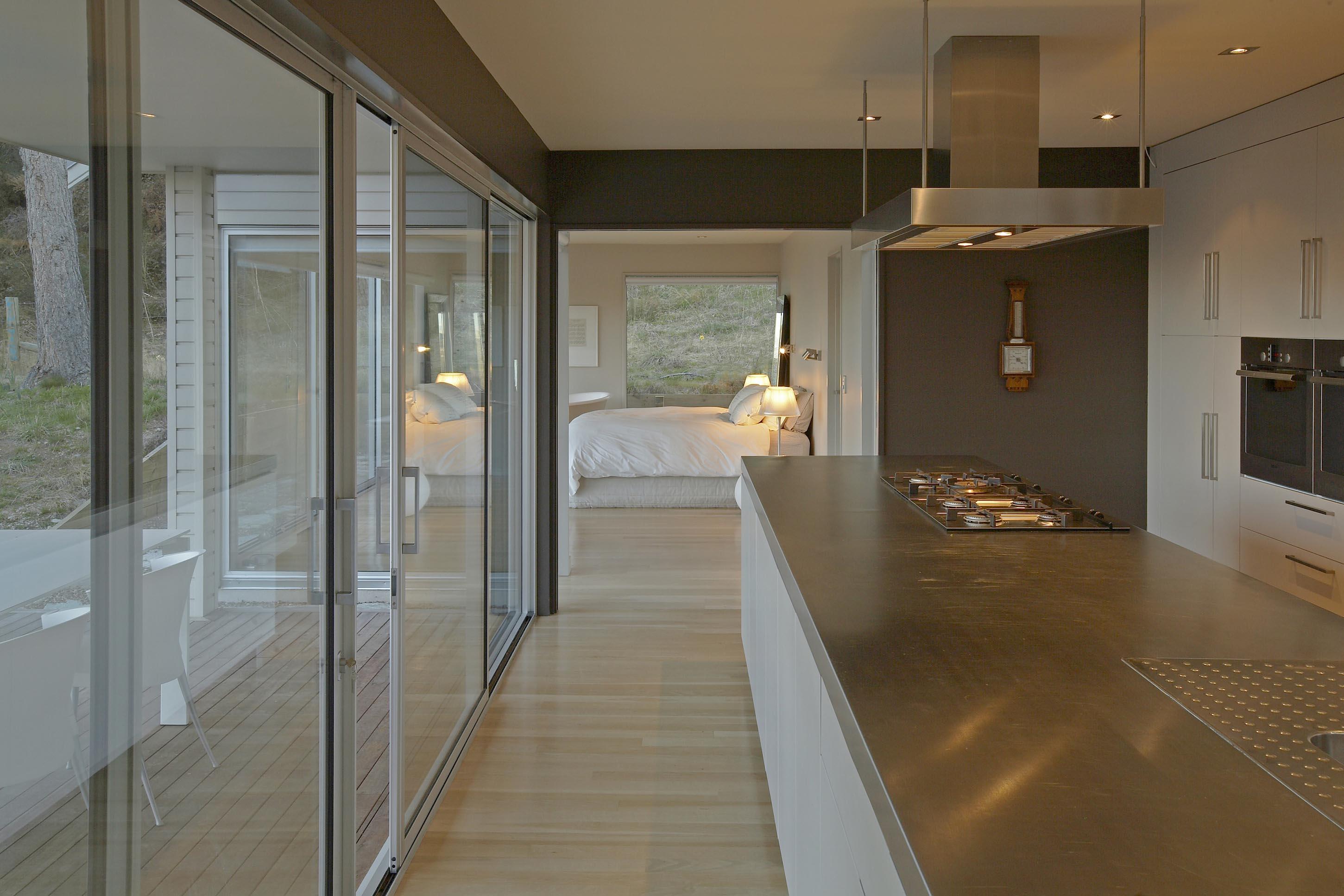 Queenstown kitchen design stainless steel bench