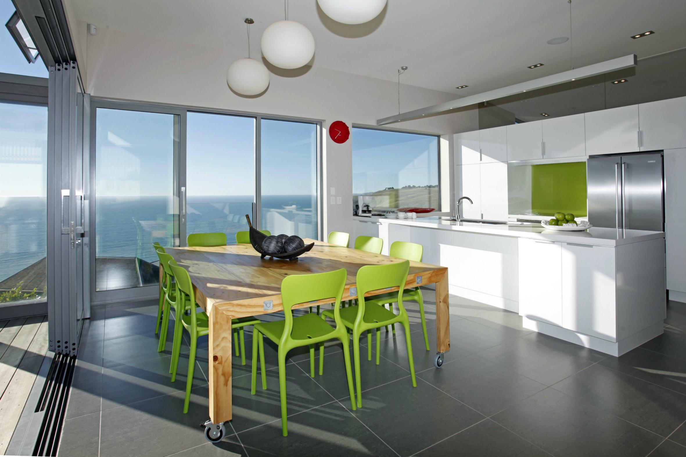 White kitchen design in modern architecture