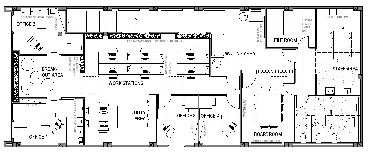 Commercial office plan fitout