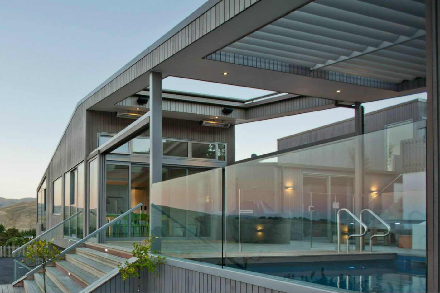 Scarborough architect house glass balustrade