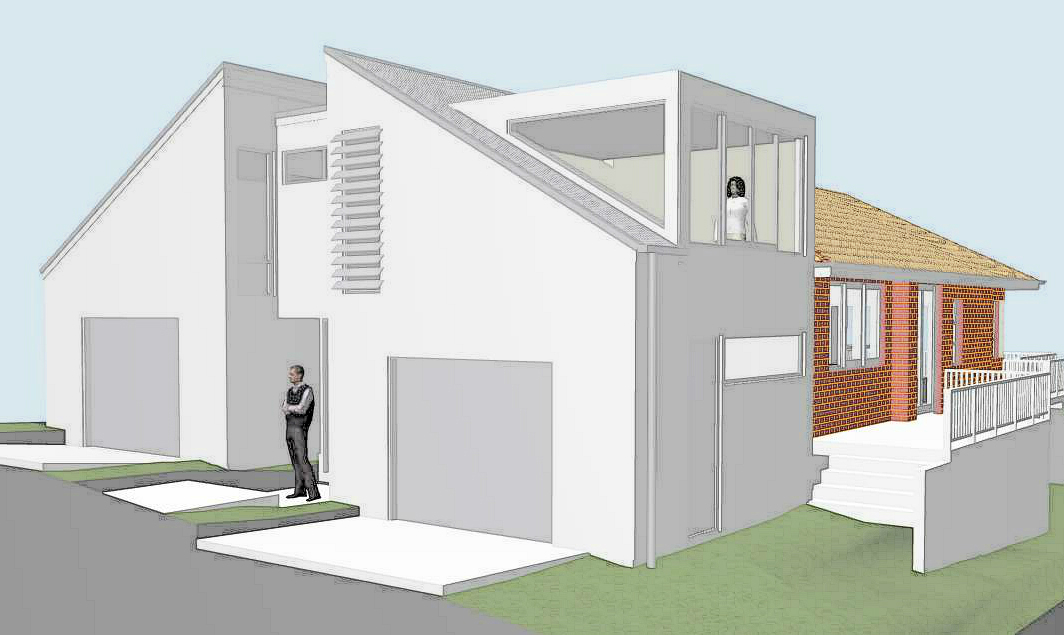 Remuera architect designed renovation white plaster
