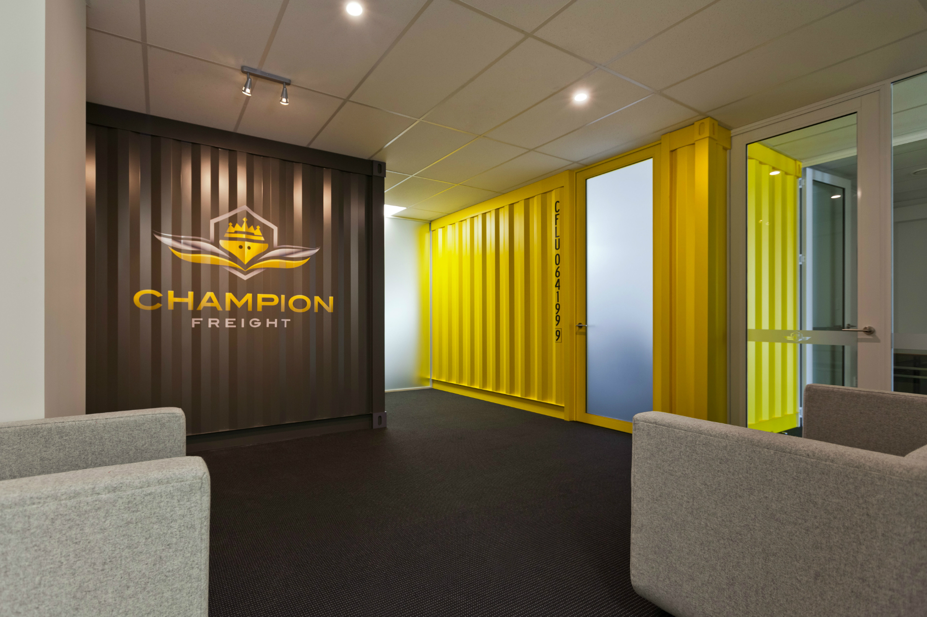 Commercial architecture office fitout industrial finish