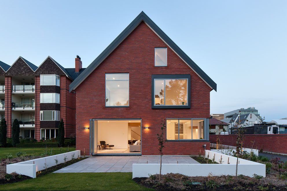 NZ architecture contemporary brick cladding