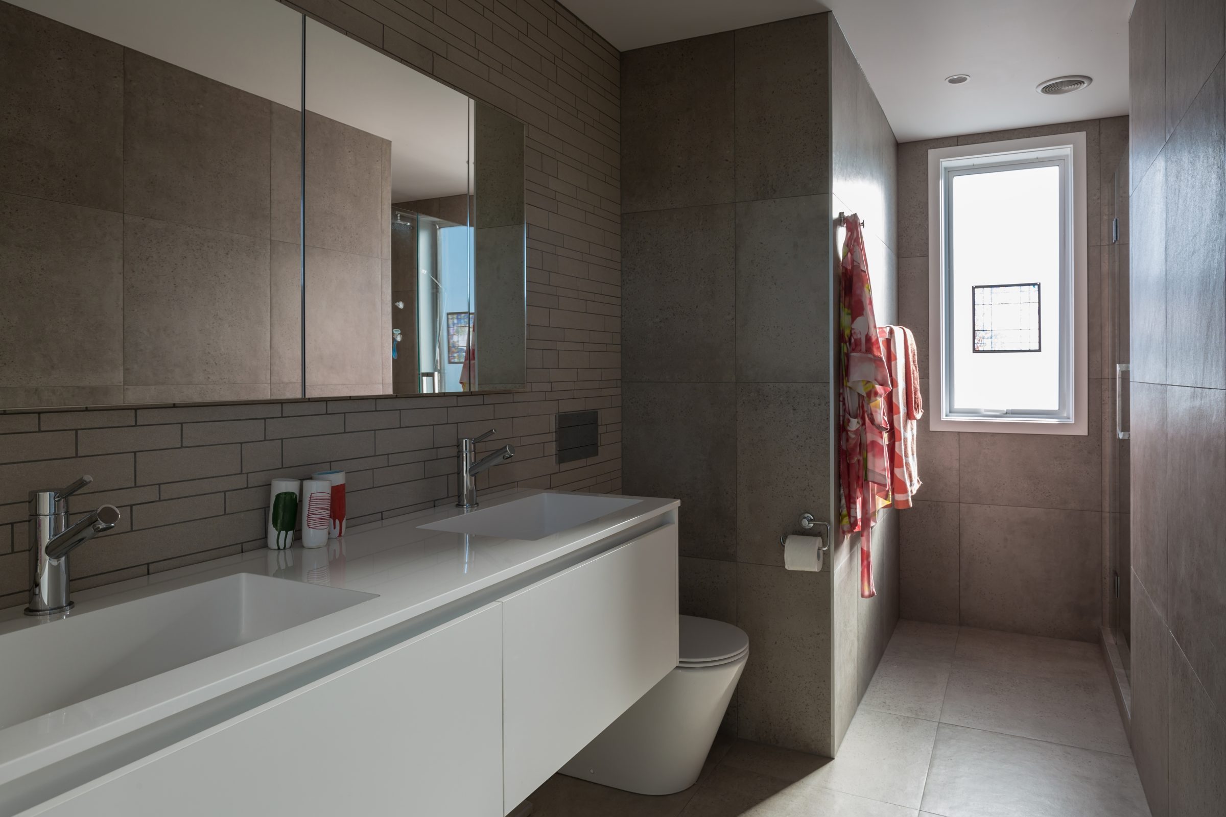 Glendowie renovation new ensuite tiles