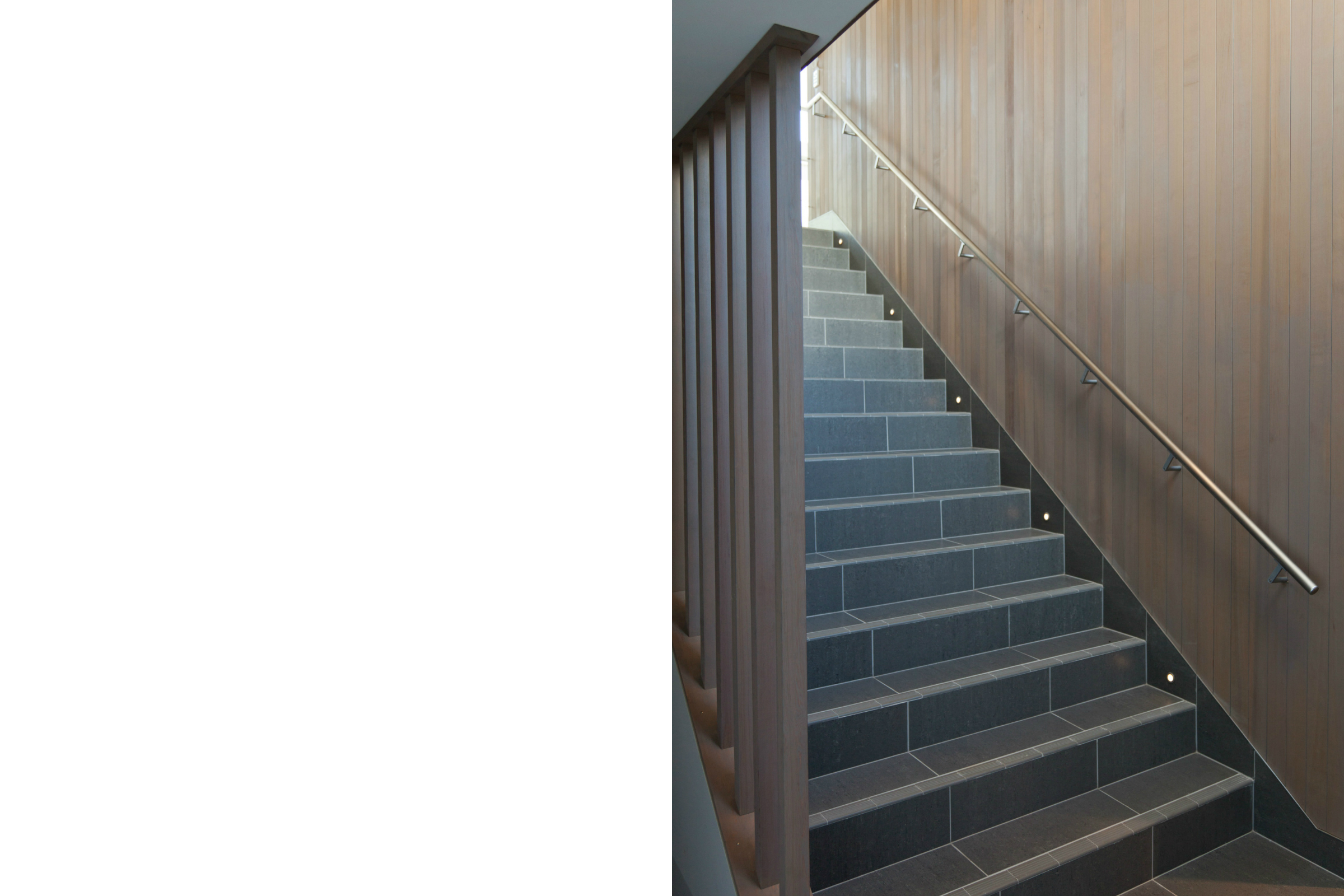 Christchurch architect tiled stair