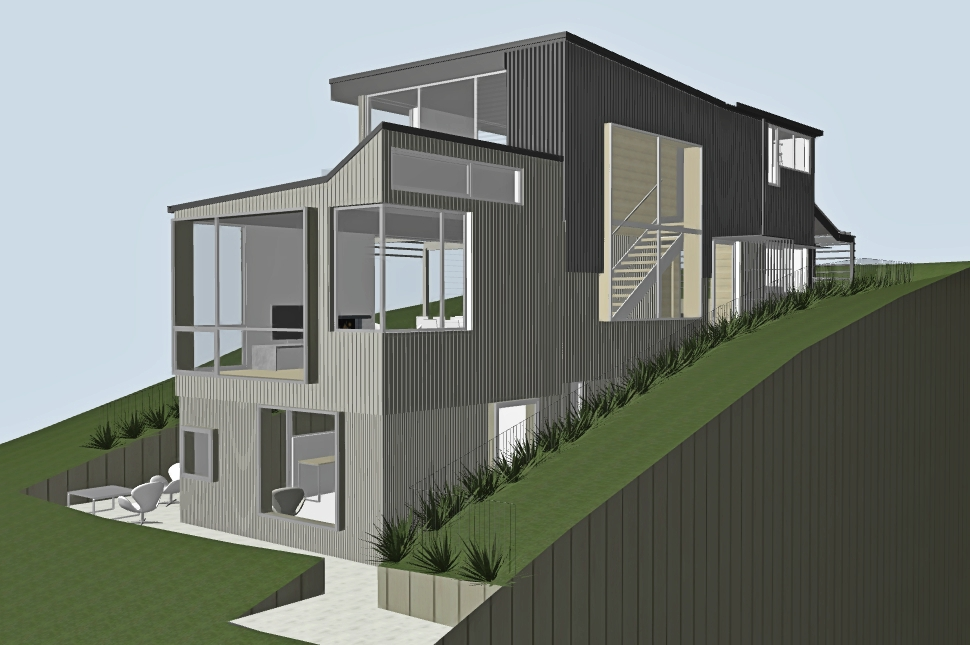 New Waiheke architecture metal cladding