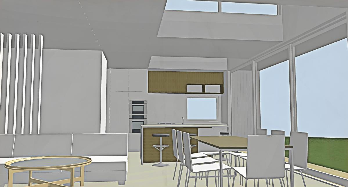 Contemporary interior Auckland bungalow architecture