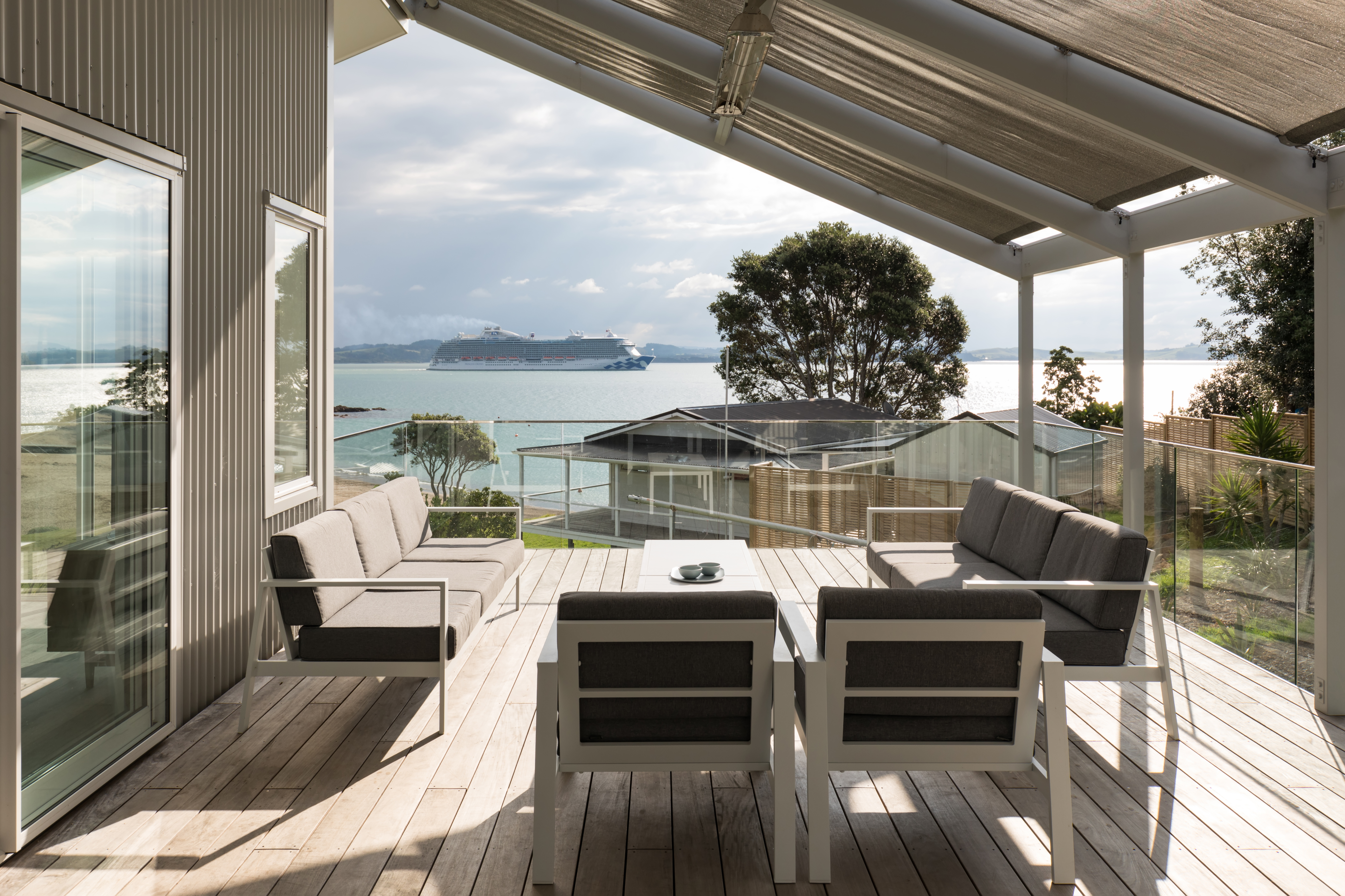 Sea views from Bay of Islands deck