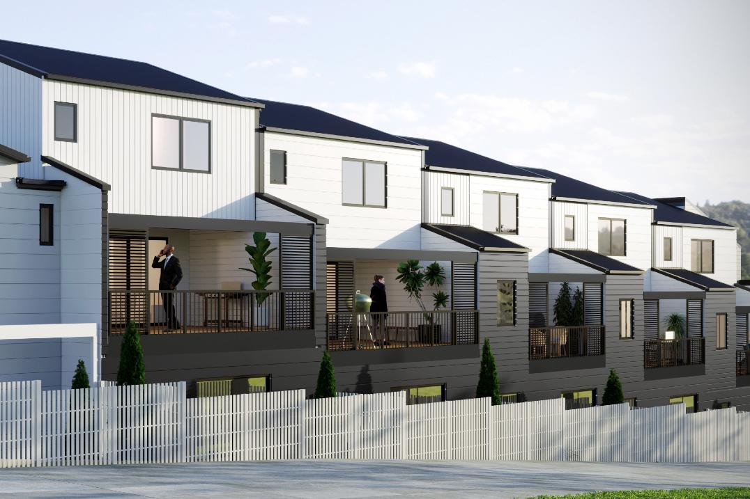 Contemporary townhouse development