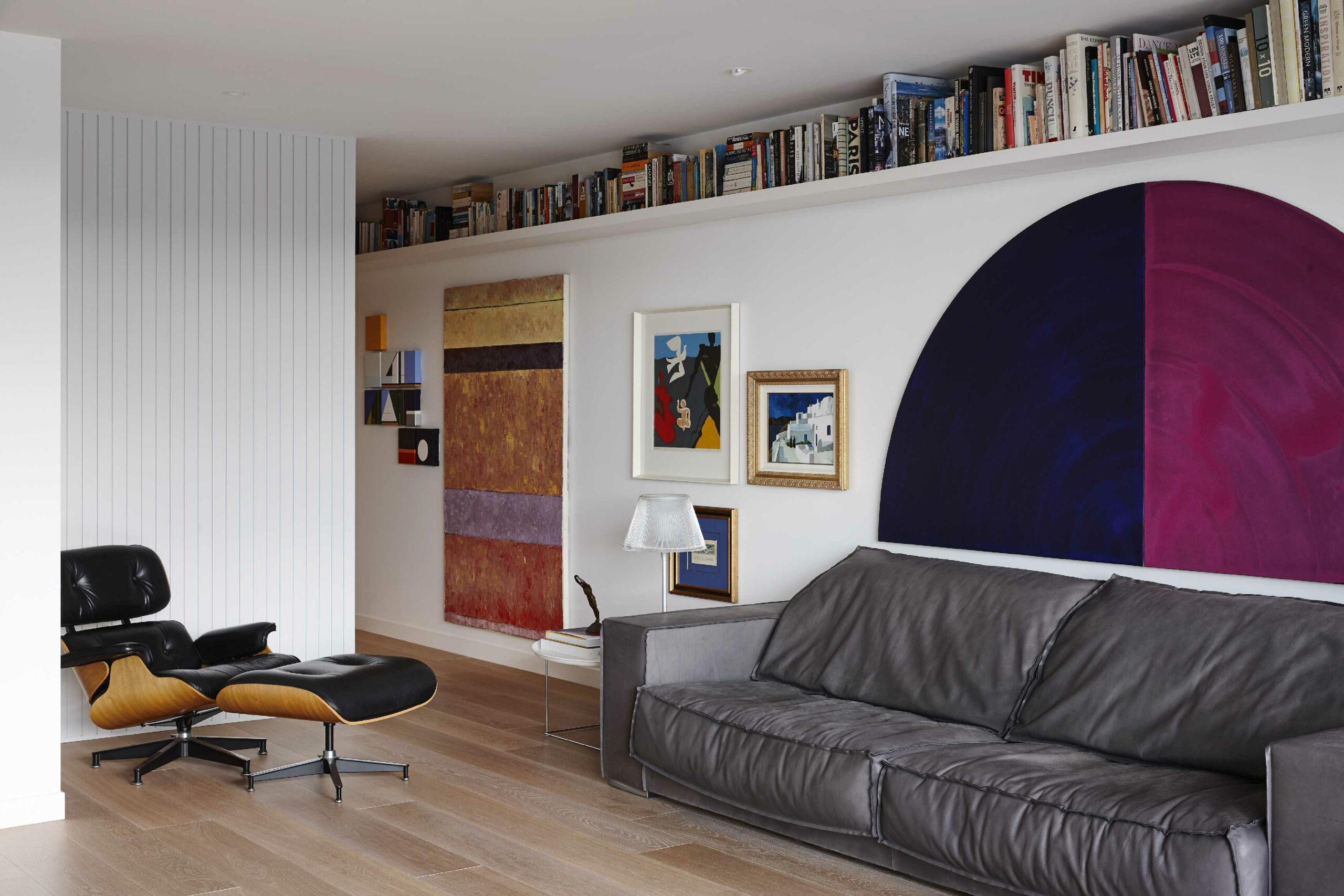 Living area with art